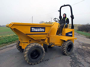 Used Thwaites 3 Ton Swivel Dumper