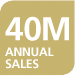 40 million annual sales